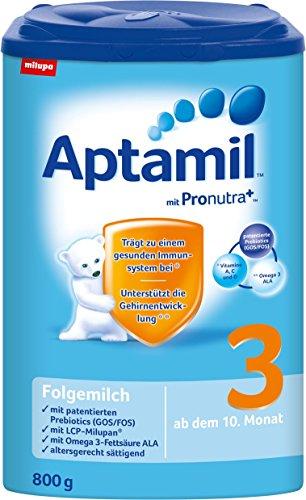 Aptamil Pronutra 3 Folgemilch, ab dem 10. Monat, 4er Pack (4 x 800 g) - 1
