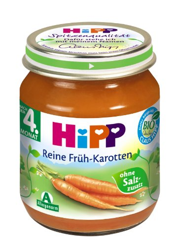 Hipp Reine Früh-Karotten, 6-er Pack (6 x 125 g) - Bio - 1